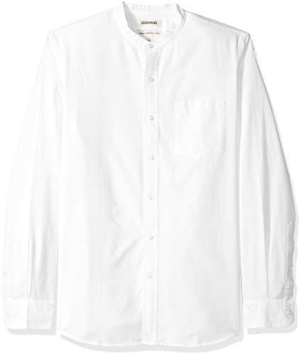 - Goodthreads Men's Standard-Fit Long-Sleeve Band-Collar Oxford Shirt, -white, X-Large