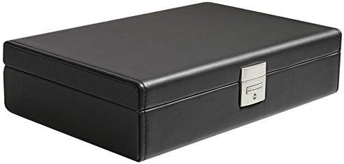 JUNMYEON 収納ケース ロック 時計収納ボックス レザーデザイン ホルダー イヤリング リング ネックレス ブレスレット