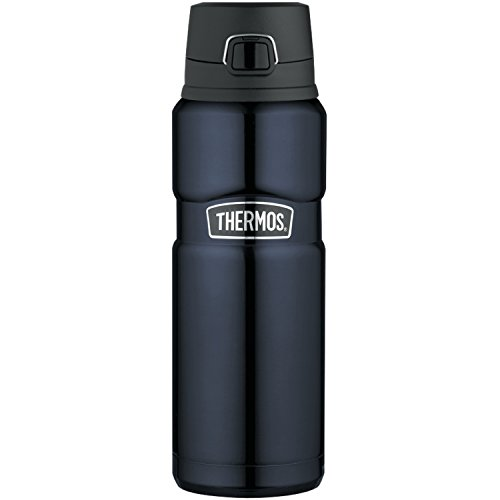Thermos Stainless King 24 Ounce Drink Bottle, Midnight Blue