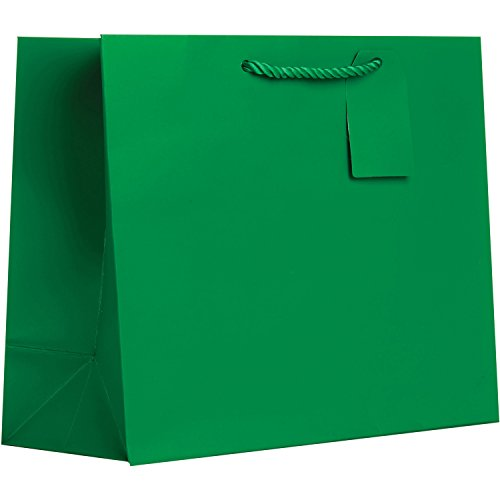 Jillson Roberts 6-Count Solid Color Christmas Gift Bags Available in 5 Different Assortments, Large Red/Green/Silver/Gold