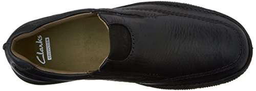 Clarks  Senner Lane, Herren Mokkasins Schwarz Black Tumbled Leather