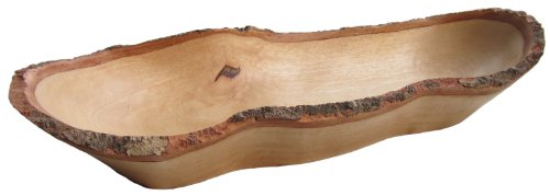 - roro Natural Long Tray with Bark Edge Made from Sustainable Wood, 17