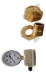 Uponor Wirsbo E6122000 Brass Manifold Pressure Test Kit - Radiant Heating & Cooling