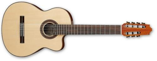 [Ibanez G207CWCNT Solid Top Classical Acoustic 7-String Guitar Gloss Natural] (Hardshell Gloss)