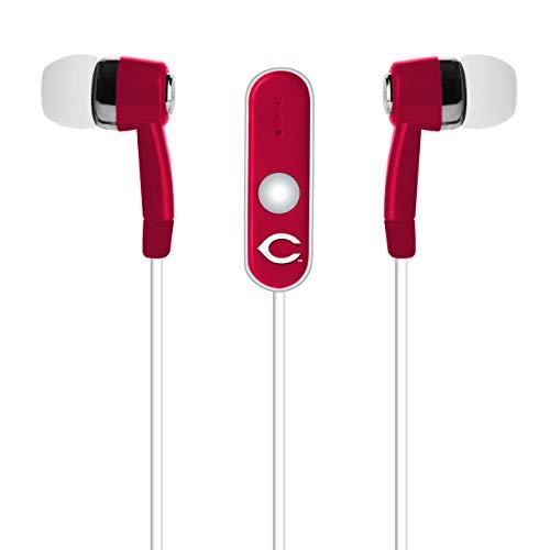 (MLB Cincinnati Reds Hands Free Ear Buds with Microphone)
