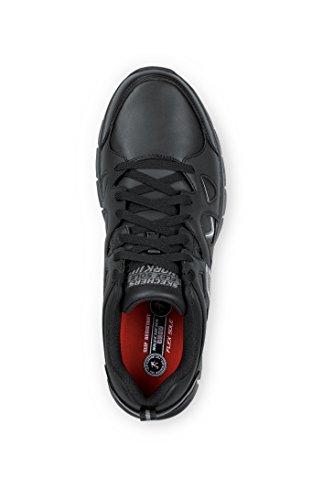 Skechers David Heren Maxtrax Antislip Atletische Sneaker Zwart