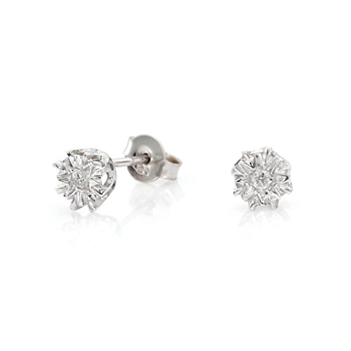 on set diamond stud earrings (9 Ct Gold Set)