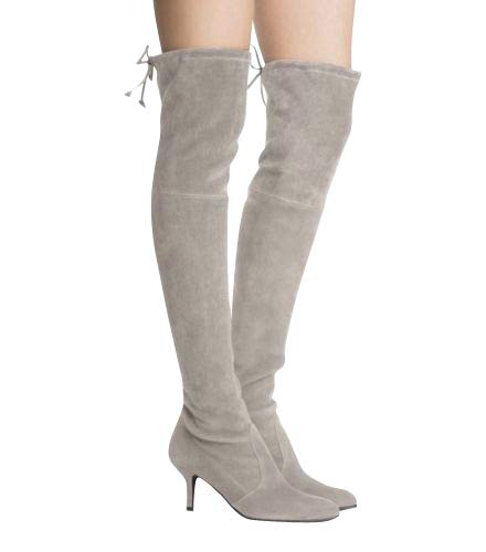 2c64af6591a Stuart Weitzman Women s Solid Tiemodel Taupe Suede Over-The-Knee Boot (US 9