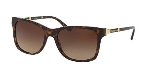 Tory Burch Women's 0TY7109 55mm Dark Tortoise/Brown Gradient - Tory Sunglasses Burch Case