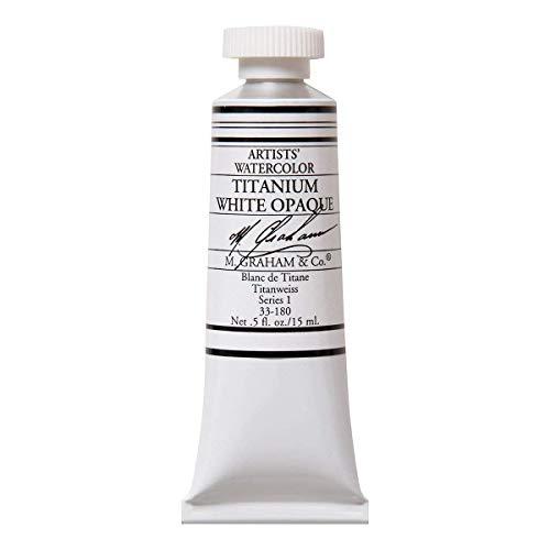 - 1/2-Ounce Tube Watercolor Paint, Titanium White Opaque