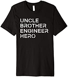 Cool Gift Uncle Brother Engineer Hero - Inspirational Uncle  Women Long Sleeve Funny Shirt / Navy / S - 5XL
