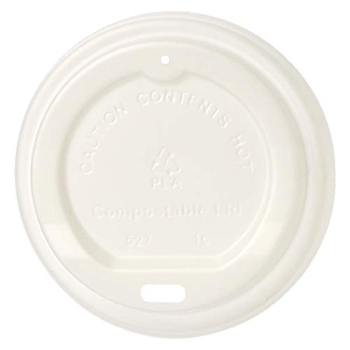 AmazonBasics Compostable PLA Hot Cup Lid for 8 oz cup , 1,000-Count