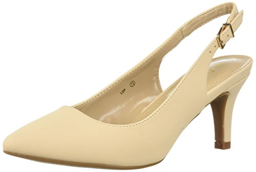 DREAM PAIRS Womens Lop Pump Nude Nubuck URiSW6