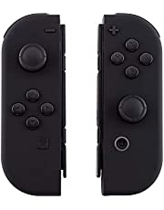 eXtremeRate Soft Touch Grip Black Joycon Handheld Controller Housing Shell with Full Set Buttons, DIY Replacement Shell Cover for Nintendo Switch Joy-Con – Console Shell NOT Included