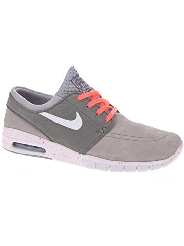 8b309c8c6f80 Galleon - NIKE SB Zoom Stefan Janoski Max Suede Wolf Grey Cool Grey Hot  Lava White Skate Shoes-12