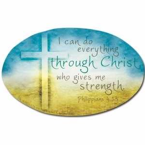Magnet - I Can Do Everything Through Christ/All Things Are Possible (Philippians 4:13 NLT)