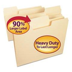 - Smead 10401 SuperTab Heavyweight Folder Manila 1/3 Cut Letter 50/BX