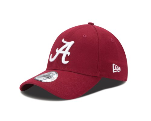 New Era College Baseball Hats - New Era NCAA Alabama Crimson Tide College Team Classic 39Thirty Cap, Cardinal, Medium/Large
