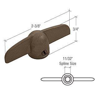 T-crank Casement Operator Handles (Bronze T-Crank Window Handle 11/32