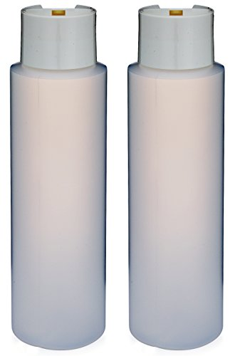 2 Pack Refillable 16 Ounce HDPE Squeeze Bottles With Stand On The Cap Dispenser Tops--Great For Lotions, Shampoos, Conditioners and Massage Oils From Earth's Essentials (WHITE CAP)