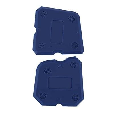 Whitelotous 4pcs Caulking Tool Kit Joint Sealant Edge Grout Remover Scraper Blue
