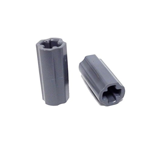 Lego-Parts-Technic-Axle-Connector-Smooth-Pack-of-2-DBGray