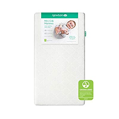 Newton Wovenaire Mini Crib Mattress-100% breathable and washable. Go beyond organic with a non-toxic, hypoallergenic crib mattress that's proven to reduce the risk of suffocation.