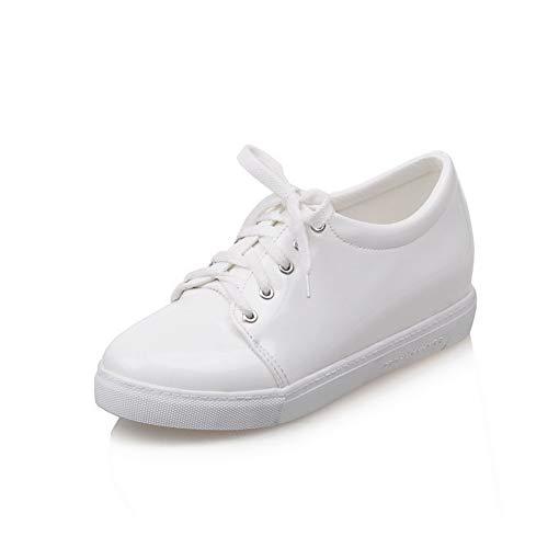 Mujer uretano Viaje de APL10563 Blanco Zapatos con Senderismo para Bomba BalaMasa de de UxZIwqZ6