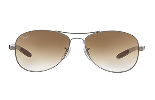 Ray-Ban Carbon Fiber Brown Gradient Sunglasses RB 8301 004/51 59mm + SD Gift by Ray-Ban (Image #1)