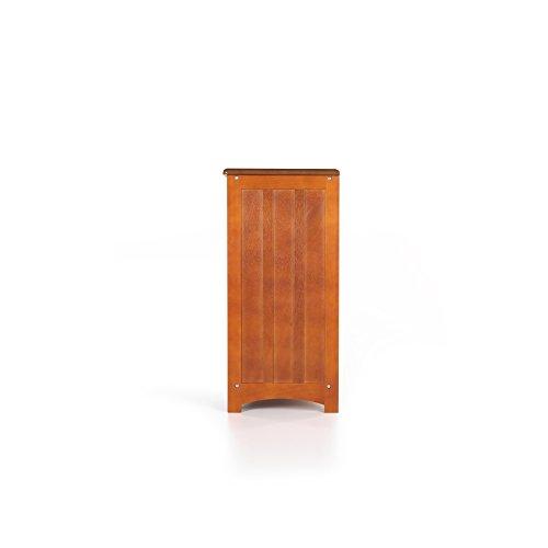 Svitlife Mission Honey Oak Finished Bookshelf Oak Bookshelf Finish Bookcase Shelf Storage 4 Tier Wood Wide Black