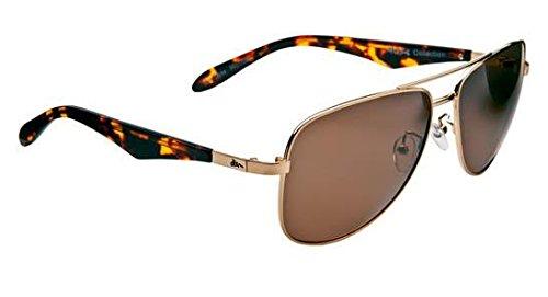 Dizm Eco Eyewear Major Tom Sport+ Brown Sunglass, Gold, One - Dizm Sunglasses