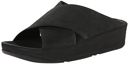 FitFlop Women's Kys In Nubuck, All Black, 5 M US by FitFlop