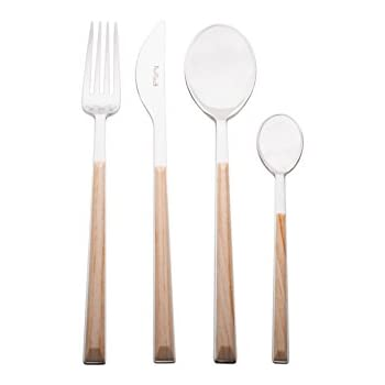 Pinti Sushi Queen for Red Vanilla 17A07091 24 Piece Flatware Set, Birch