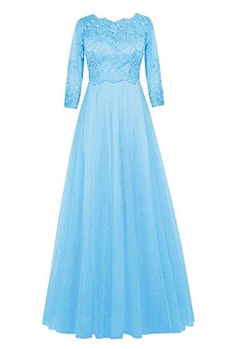 Donna Topkleider Linea A Blau Ad Vestito PIwH0