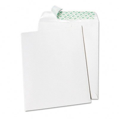 Quality Park Tech-No-Tear Catalog Envelope, Poly Lining, Side Seam, 10 x 13, White, 100/Box