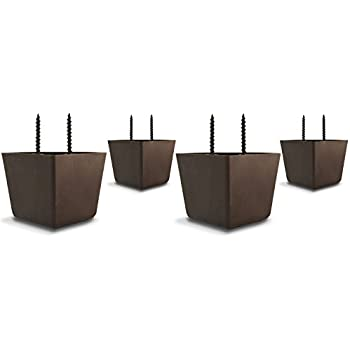 set of 4 universal plastic furniture triangle legs w screws sofa couch chair. Black Bedroom Furniture Sets. Home Design Ideas
