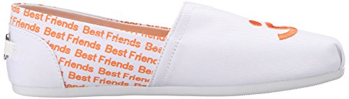 En Skechers De Peluche Friends Pour Flat Chiens Best on Slip White Bobs 5ITqFw