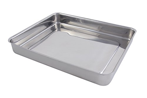 Bon Chef 60017 Stainless Steel Cucina Large Food Pan, 5 quart Capacity, 14-45/64'' Length x 12-13/64'' Width x 2-13/64'' Height by Bon Chef