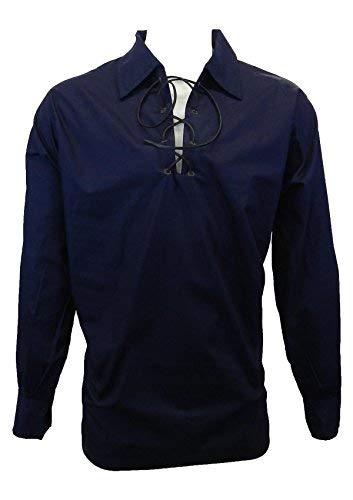 UT Kilts Jacobite Ghillie Shirt - Black, Cream, or White (X-Large, Blue)
