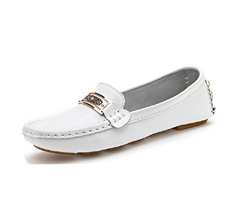 En Conduite Blanche Vintage Slip Femmes Occasionnels Chaussure Confortable De Lazutom on Mocassins Cuir Mocassin xqIOIYBw
