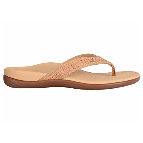 Note Eighth Gold (Vionic with Orthaheel Technology Women's Tide II Sandal,Gold Cork (7))