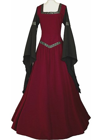 [Women Medieval Dress Halloween Renaissance Costumes Vintage Gothic Dress Cosplay Dresses by JOYCHEER] (Renaissance Costume Material)