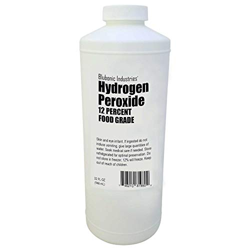 Price comparison product image Food Grade Hydrogen Peroxide 12% (Derived from 35%) H2o2 (32 fl oz (Quart))