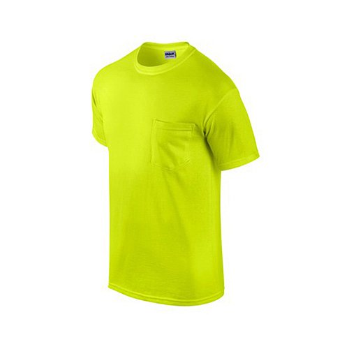 G2300grn-l 2 Pack, Adult, Large, Safety Green, Short Sleeve Pocket Tee Shirt ()
