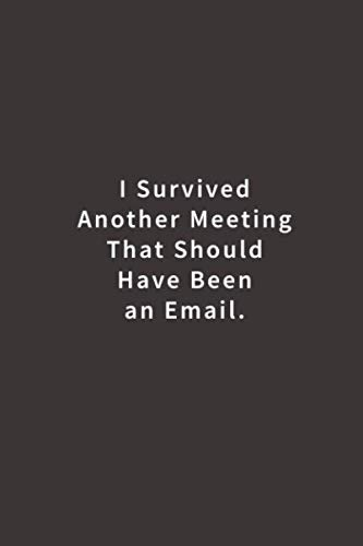 I Survived Another Meeting That Should Have Been An Email.: Lined notebook (Best Gifts For Employees)