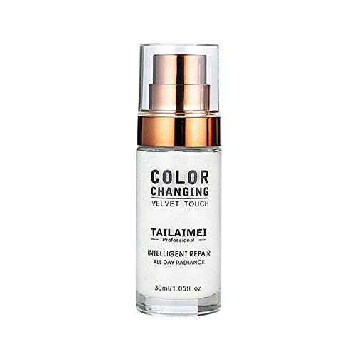 Chranto Color Changing Foundation Makeup Base Nude Face Liquid Cover Concealer Brighten (Foundation Diffuser Spf 15)