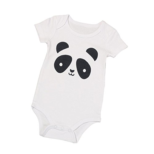 [Bestpriceam Newborn Infant Baby Boys Stripe Romper Jumpsuit Outfits Clothes (0-6M, White Panda)] (Panda Outfits For Babies)