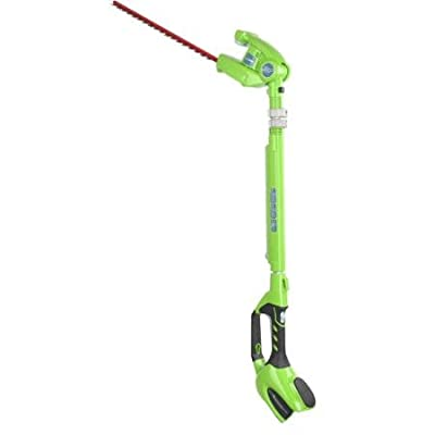 "GreenWorks 22342 40V 20"" Cordless Pole Hedge Trimmer, Battery and Charger Sold Separately"