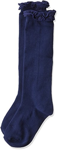 Jefferies Socks Girls' Little Ruffle Knee High - stylishcombatboots.com