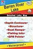 Barren River Lake Fishing Map (Kentucky Fishing Map Series, L441)